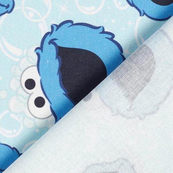 Tissu de décoration Cretonne Cookie Monster   CPLG – bleu bébé/bleu roi