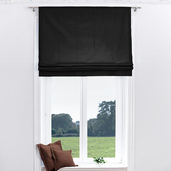 Tissu de rideau Brush – noir