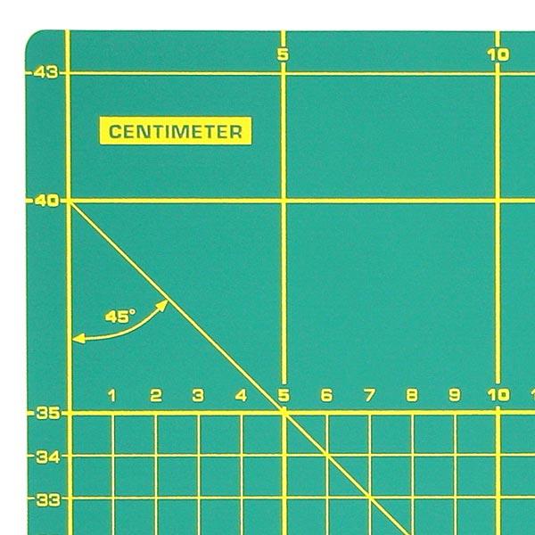 Schneidunterlage, faltbar [43 x 60 cm] - grün   OLFA