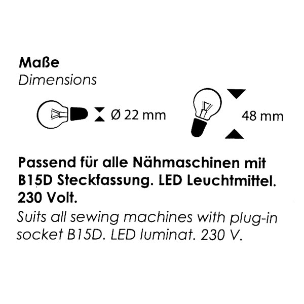 """Ampoule LED """"Carla's Collection"""" B15D 230 V