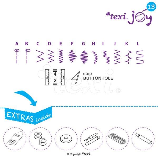 Haushaltsnähmaschine  Texi Joy 13 – pink