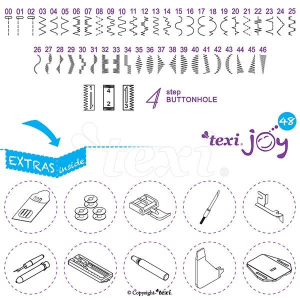 Haushaltsnähmaschine Texi Joy 48