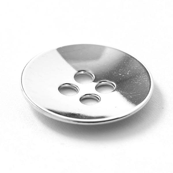 Bouton en métal 4 trous – argent