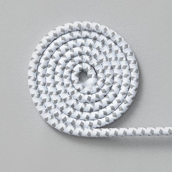 Cordon Reflex – blanc/argent