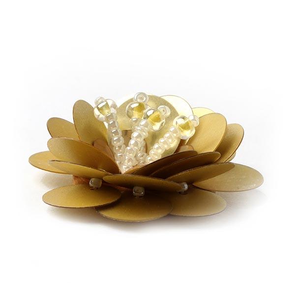 Applikation-Paillettenblume - gold