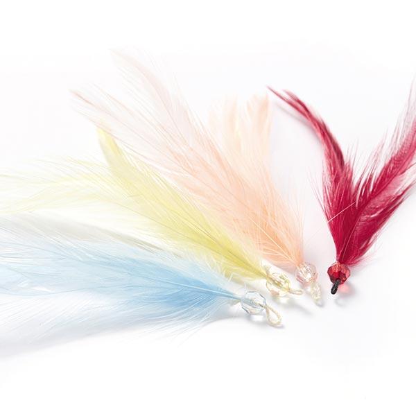 Pendentif plume – rouge bordeaux