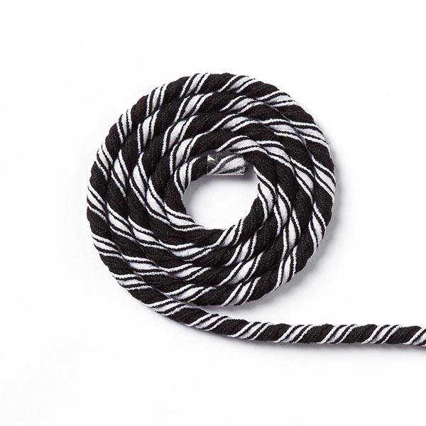 e13fbe80374 Elastisch koord Helix multicolor [Ø 5 mm] - zwart/wit - Meer koorden ...