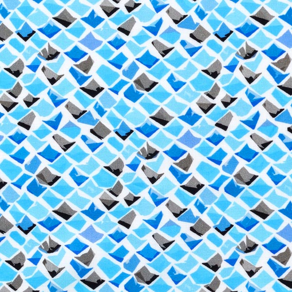 Voile Mosaïque – turquoise/bleu