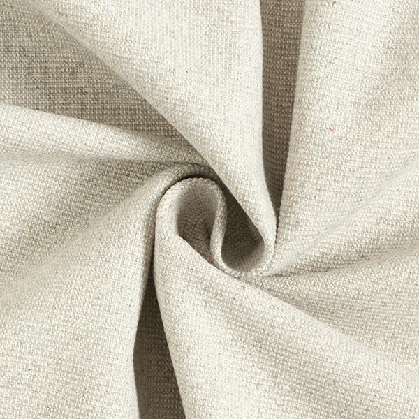 Tissu déco semi-panama nervuré en coton recyclé – gris brume