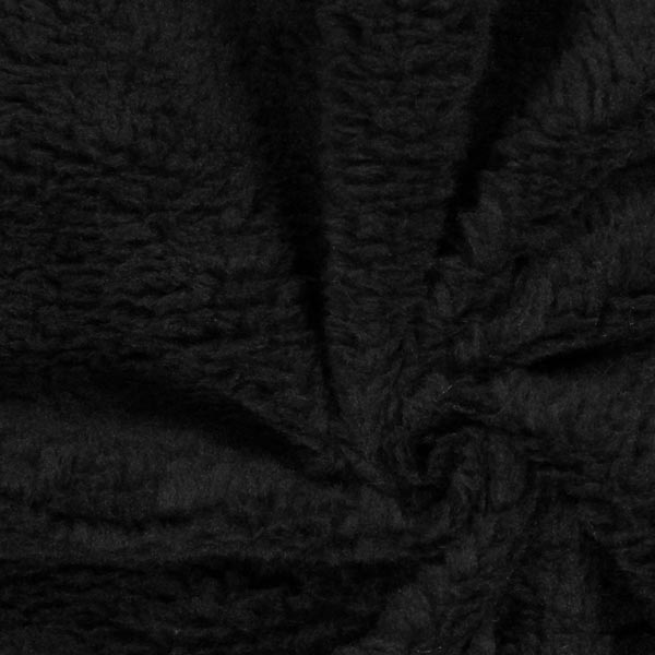 Imitation Fourrure d'Agneau – noir