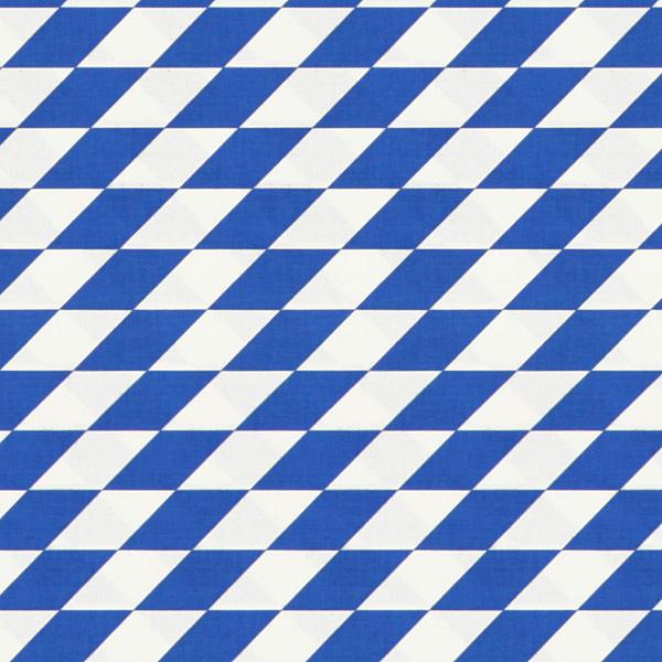 Tissu en coton Grands losanges – bleu/blanc