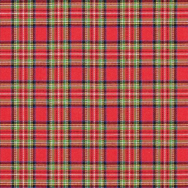 Flanelle coton Carreau écossais Glenside – rouge vif