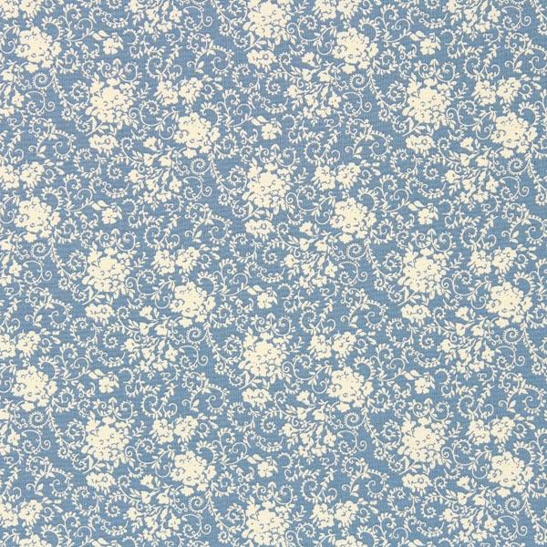 Tissu en coton Jardin Falun 1 – gris bleu