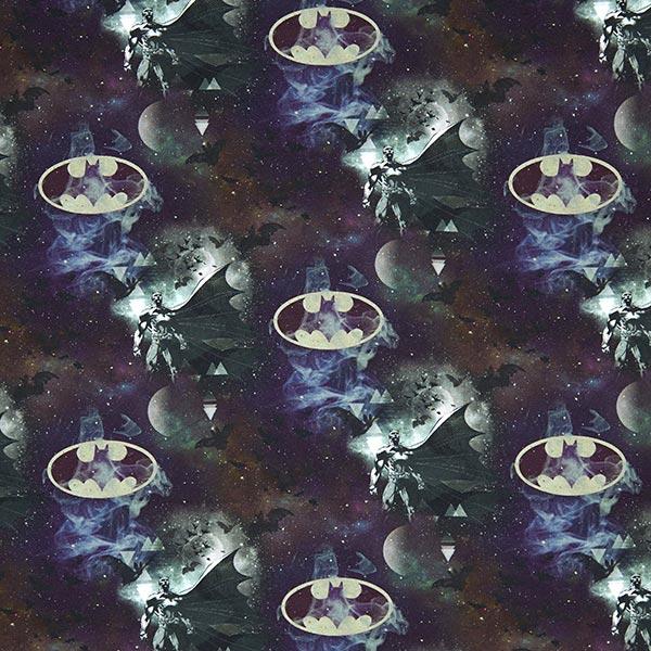"""Jersey coton """"Batman"""" 1 - noir"""