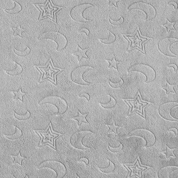Kuschelfleece Mond & Sterne – grau