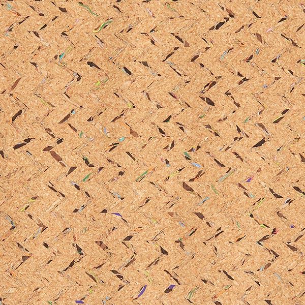 Kork Fischgrat, fein – natur/Farbmix