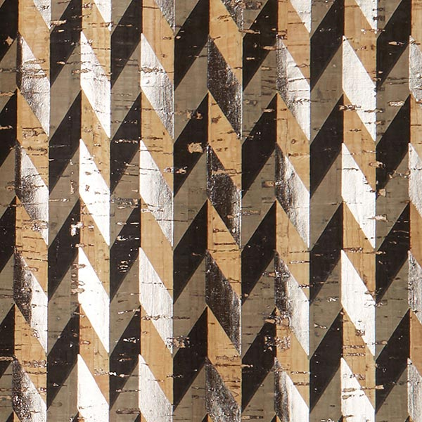 Kork Fischgrat Metallic – natur