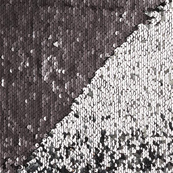 Jersey à paillettes Paillettes réversibles avec face brillante – noir/argent