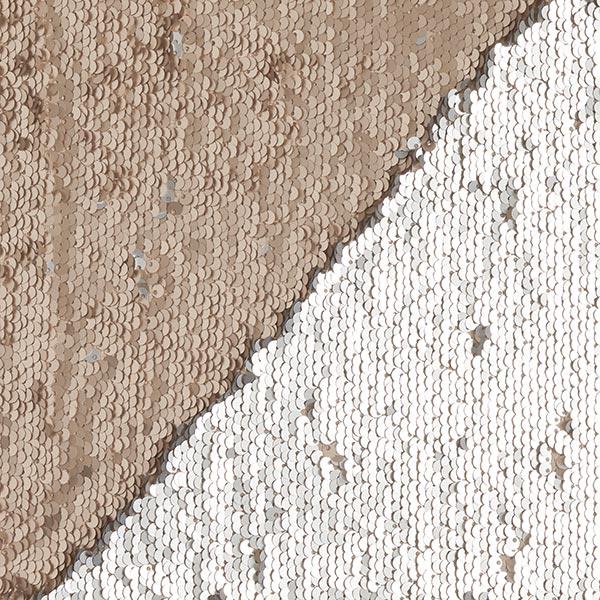 Jersey à paillettes Paillettes réversibles, Couleur mate – sable/crème