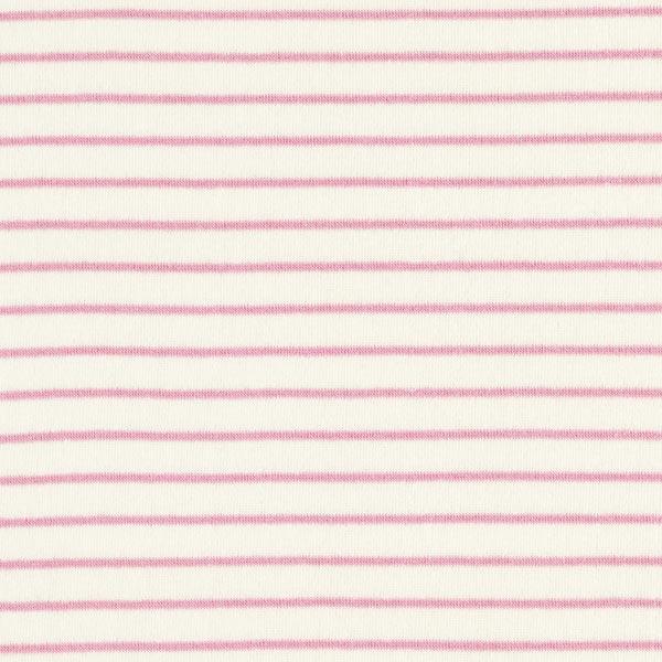 Jersey éponge Rayures – écru/rose
