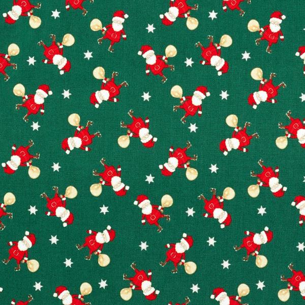 Baumwollstoff Popeline Weihnachtsmann – vert foncé