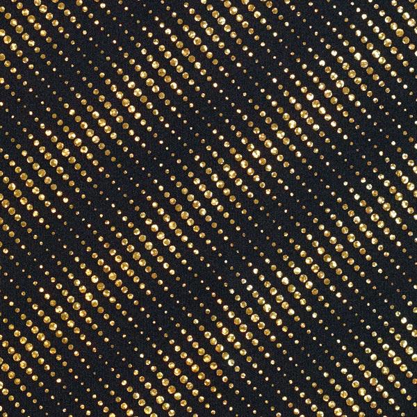 Jersey feuilles Rayures de points scintillants – or/noir