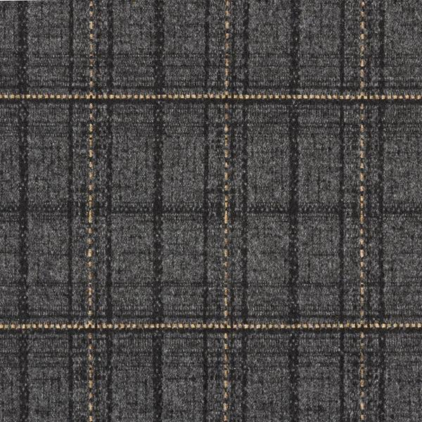 Jersey romanite Surface douillette Motif carreaux – anthracite/beige