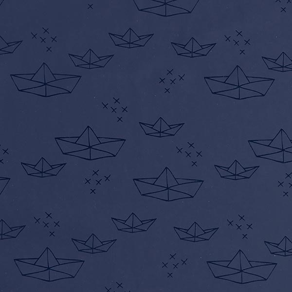 Tissu pour veste de pluie Bateau Origami   Coppenrath – bleu marine