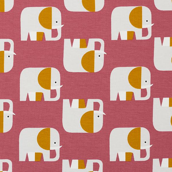 Bio-Baumwolljersey Elefant – himbeerrot