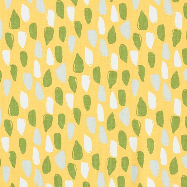Bio Jersey coton   Gouttes d'eau – jaune/olive clair