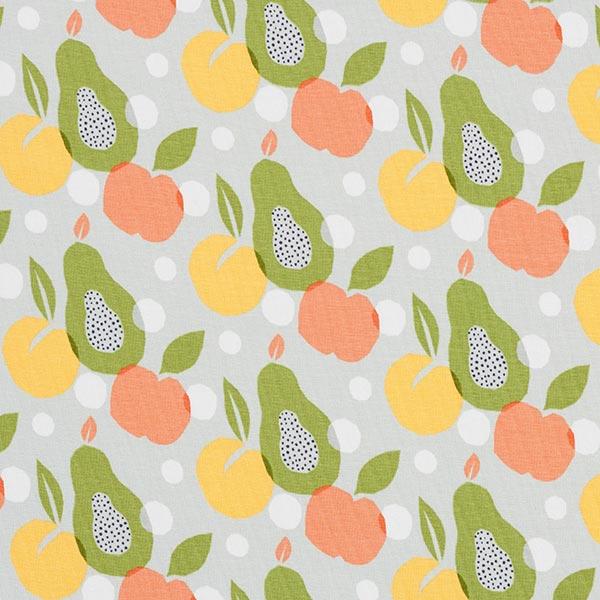 Bio Jersey coton   Fruit – gris clair