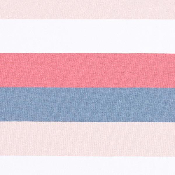 Jersey coton Rayures larges – saumon/gris