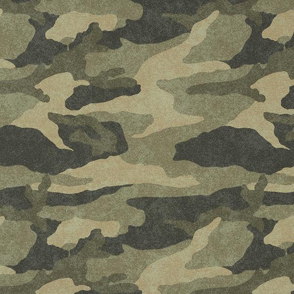 Sweatshirt angeraut Camouflage – helloliv/dunkeloliv