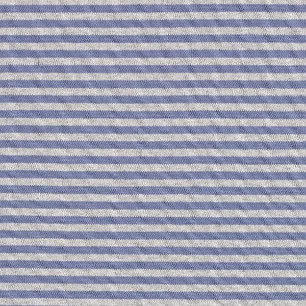 Maille fine à rayures – bleu jean/gris