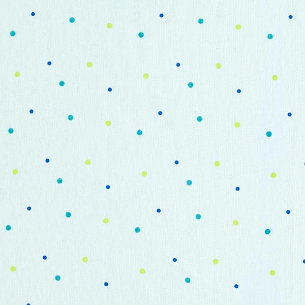 Popeline coton Points miniatures | Coppenrath – argent/bleu