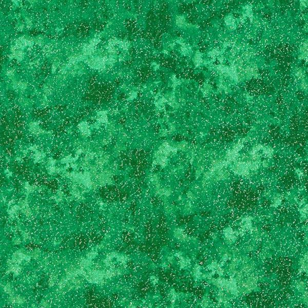 Baumwollstoff Popeline Glitzerwolken – dunkelgrün