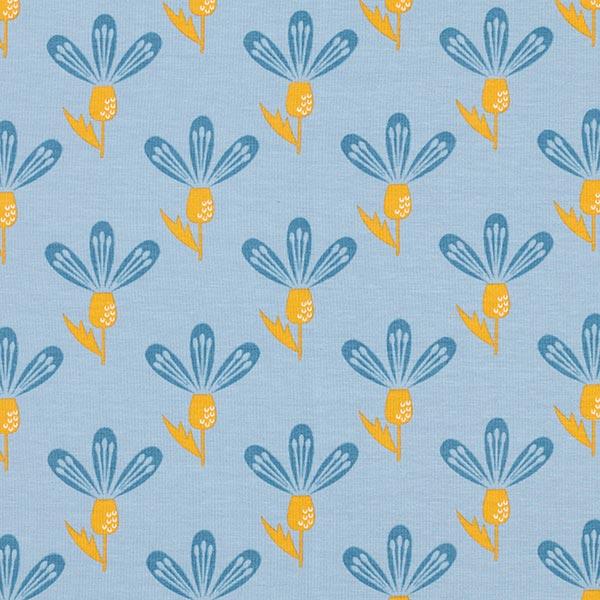 Jersey coton crocus – bleu clair