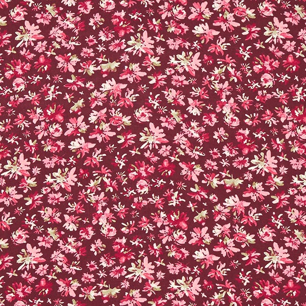 Viskosestoff verschwommene Blüten – bordeauxrot