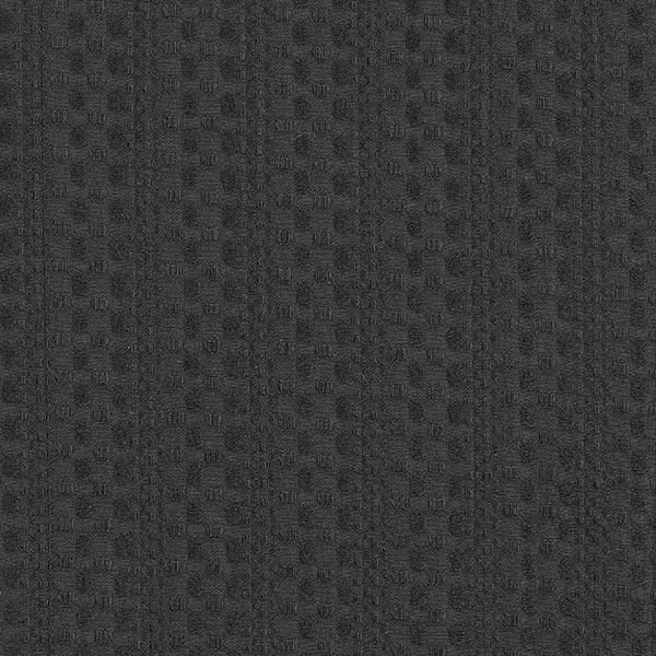 Baumwoll-Jacquard Punkte & Streifenstruktur – schwarz