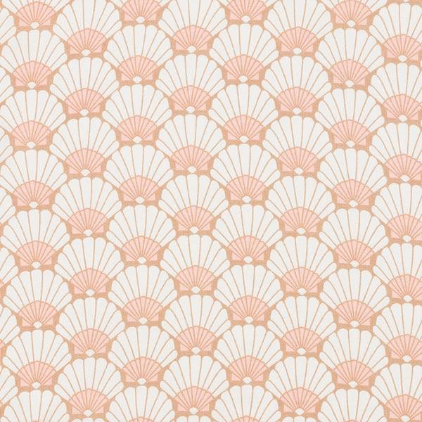 Tissu de chemisier viscose moules – blanc/rose