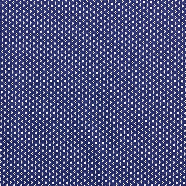Tissu pour chemise Popeline coton Petits losanges – bleu marine/blanc