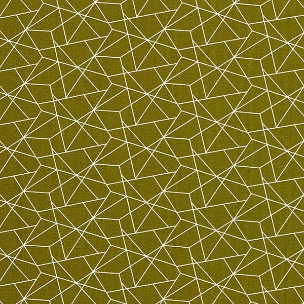 Baumwollstoff Popeline Grafisch – khaki