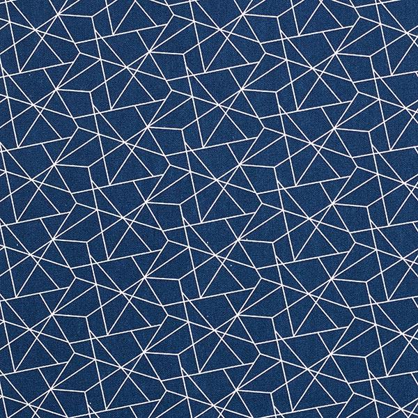Baumwollstoff Popeline Grafisch – marineblau
