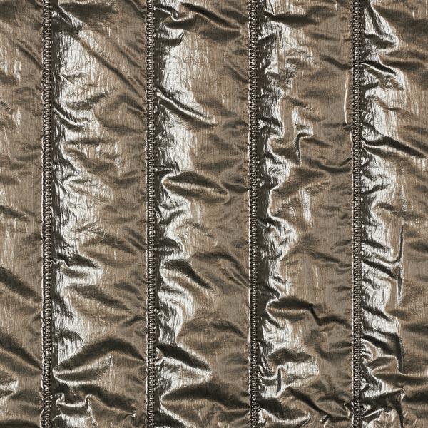 Steppstoff Metallic Optik – khaki