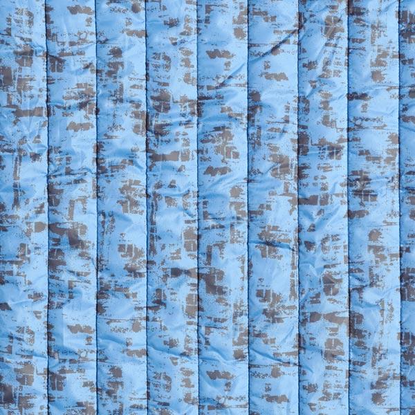 Steppstoff abstraktes Muster – hellblau