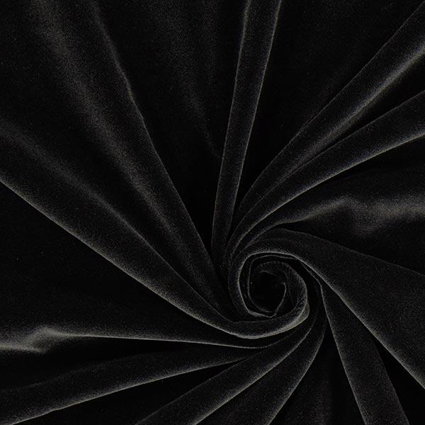 Baumwollsamt – schwarz