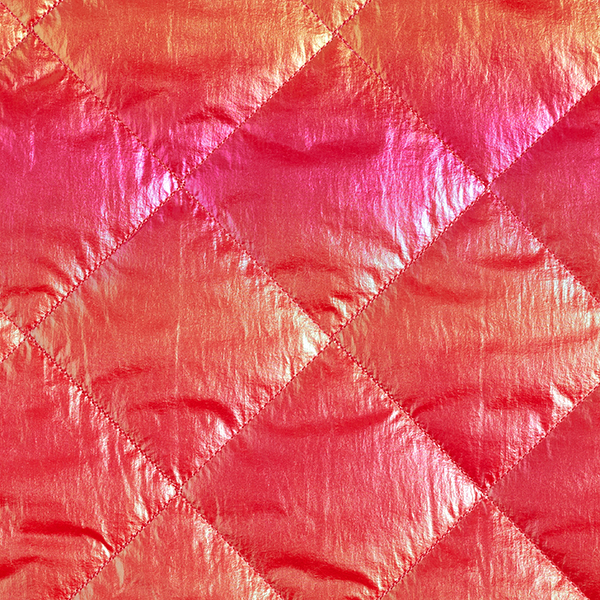 Tissu matelassé Effet holo – rose vif