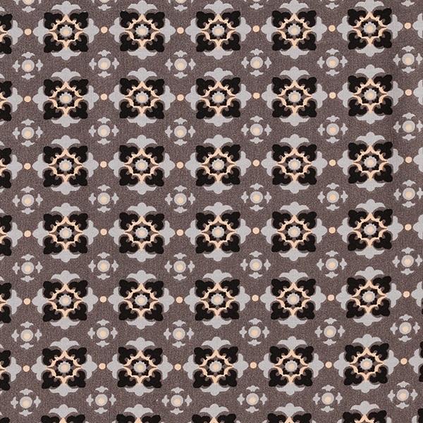 Feines Viskosegewebe Ornamente – grau