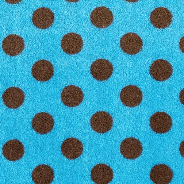 Polaire bien-être Points – turquoise/marron