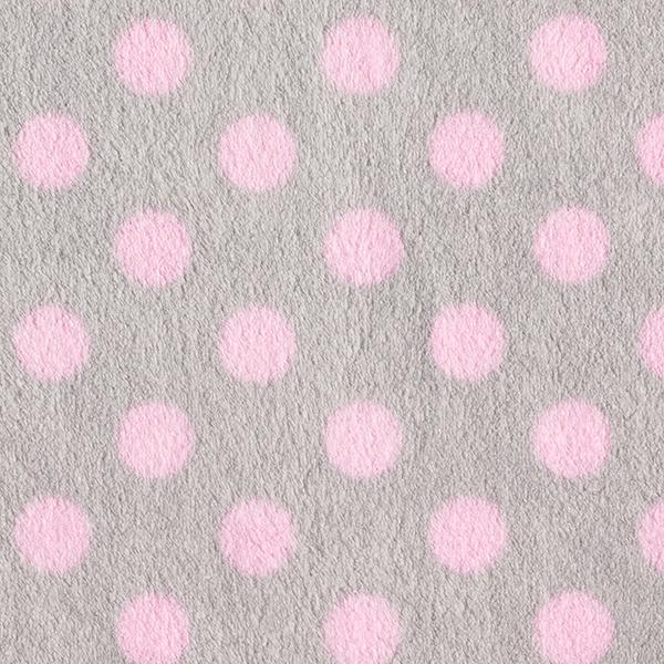 Wellnessfleece Punkte – hellgrau/rosa